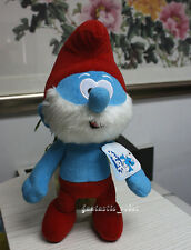 "B/NEW The Smurfs Character Soft Plush Toy 8"" Papa Smurf Stuffed Teddy Doll"