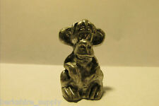 Pewter Funny Face Monkey Figurine