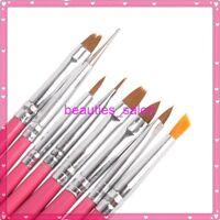 8Pcs/Set Nail Art Acryli UV Gel Brush Nail Painting Drawing Dotting Pen Tools