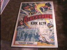 BLACKHAWK CHAPTER 11 MOVIE POSTER '52 KIRK ALYN SERIAL