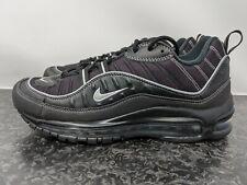 Nike Air Max 98 Negro Metálico Plata 640744 013 tallas de hombre 8 Totalmente Nuevo