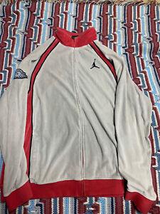 Vintage Air Jordan Men's XXL Gray & Red With Black Trim Suede VTG Jacket