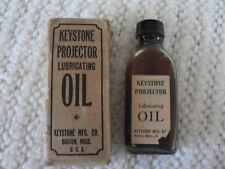 Vintage Keystone Movie Projector Lubricating Oil in the Original Bottle & Box