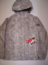 QUIKSILVER MEN'S U-RAMP SNOW JACKET - BGE - LARGE - NWT