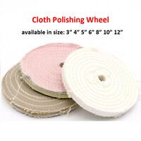 Spiral Stitched Cotton Cloth Buffing Polishing Mop Bench Grinder Buffing Wheel