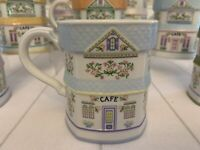 Lenox Spice Village Coffee Mugs- Complete Set Of 8 (retired/rare)