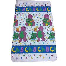 New listing Vtg 1993 Lyons Barney Baby Bop Alphabet Toddler Baby Blanket Comforter Quilted