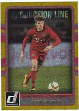 2016 Donruss Soccer Production Line Gold #4 Thomas Muller FC Bayern Munich