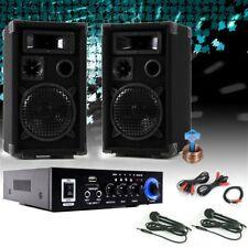 Karaokeanlage Partyanlage Lautsprecher USB SD MP3 Bluetooth Verstärker Mikrofon