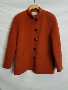 Vtg Roberto Avolio For The Mediterranean Burnt Orange Wool Jacket Size 42