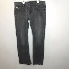 Diesel Viker Men's Jean W36x32L Straight Leg Faded Black Wash 008D4