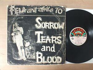 FELA KUTI and AFRIKA 70 Sorrow Tears and Blood ORIGINAL NIGERIA 1977 kalakuta lp