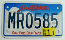 """NICE! SOUTH DAKOTA 2010 GRAPHIC MOTORCYCLE CYCLE LICENSE PLATE """" MR 0585 """" SD 10"""