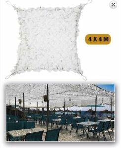 Filet de camouflage Blanc Renforcé acier 4 x 4 m