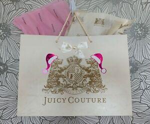 RARE~VINTAGE~JUICY COUTURE Santa Plush Scottie GIFT Shopping Paper BAG w/Tissues