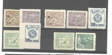Korea 1951 Regular Issue Rouletted & Perf 11 (1000w With Full Gum) Mint Lh Sets