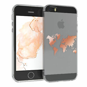 For Apple IPHONE Se/5/5S cover Silicone Case Cover World Map Motif