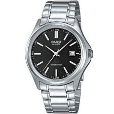 Casio Uhr MTP-1183PA-1A Herren Armbanduhr Edelstahl Silber Schwarz Men NEU & OVP
