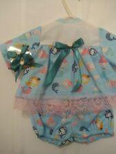 """Colorful Mermaids dress, panties & 2 Hair pins 15-16"""" baby dolls"""