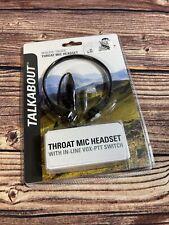 "Motorola Pmln7705ar Throat Microphone,Cord 28"" L,Black"