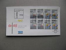 NETHERLANDS, cover FDC 1983, blocks of 4 Piet Mondriaan, painter art De Stijl