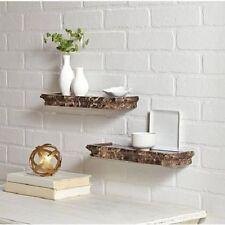Floating Wall Shelf Mount Home Decor Bookshelf Display Home Storage Shelves 2PCs