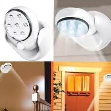 FARETTO LAMPADA SENSORE MOVIMENTO 7 LED LUCE BIANCA ROTANTE 360 GRADI SENZA FILI