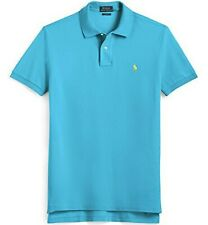 RALPH LAUREN BOYS POLO SHIRT TOP TURQUOISE BLUE COTTON SIZE 7 Age 7yrs NEW