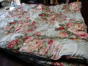 """Vintage Ralph Lauren """"Stone Harbor"""" Floral Full/Queen Comforter Cotton Sateen"""