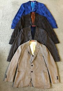 Lot 4 Isaia Napoli Men's Sports Suit Coats Blazers - Size Italy 52R - US 42R
