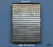 Howard Personalizer Type  - 18pt. Broadway  -  Hot Foil Stamping Machine