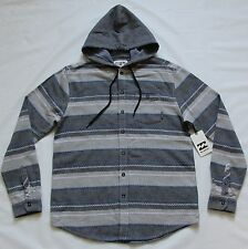 BILLABONG MENS ZIGGY HOODED FLANNEL WOVEN SHIRT JACKET SNOWBOARD SKI HOODIE S