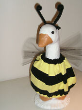 """Goose geese 17"""" Medium clothes Bumble Bee yellow black outfit #161-5"""