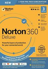 Norton Internet Security 360 Deluxe 2020 Antivirus 3 devices PC Mac Worldwide
