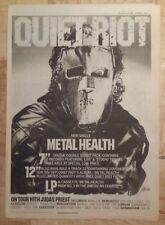 Quiet Riot Metal Health   1983 press advert Full page 39 x 28 cm mini poster