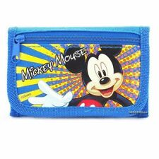 New Disney Mickey Mouse Licensed TriFold Wallet Blue