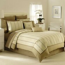 Nautica BROOKLYN HEIGHTS 3P Queen Duvet Cover Shams Set Tan