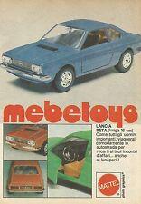 X9227 Lancia Beta Mebetoys - Pubblicità 1977 - Advertising