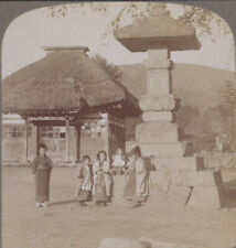 More details for japan stereoview, karuizawa. children in playground at the village schoolhouse
