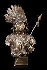 Figura de indio Busto - redner der Sioux Nation - VERONESE óptica Bronce Estatua