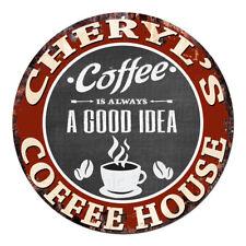 CPCH-0059 CHERYL'S COFFEE HOUSE Chic Tin Sign Decor Gift Ideas