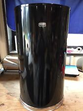 Rubbermaid 12 gal. Half Round Black Trash Can With Open Top (Damaged)  (CC553)