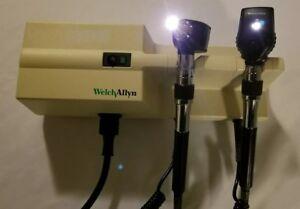 Welch Allyn 767 3.5v Diagnostic Set w/ Otoscope Ophthalmoscope Wall Transformer