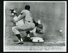 Dale Long & Don Hoak 1956 Press Photo Pittsburgh Pirates Chicago Cubs