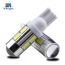 100Pcs White 12V T10 w5w 194 168 5730 10SMD with Lens Car Led Driving Light Bulb