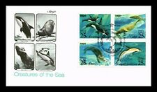 US COVER CREATURES OF THE SEA JOINT ISSUE USSR FDC SETENANT ARTMASTER CACHET