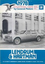 General Motors Chevrolet Pontiac Oldsmobile Buick Cadillac 1978 UK Brochure