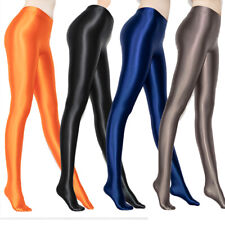 Plus Sexy Shiny Wet Look Pantyhose Satin Glossy Opaque Tights Stockings Feng8