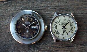raketa  medical and world time mechanical quartz  watch Soviet USSR Russian