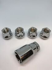 Wheel Locks 14x1.5 Open End Bulge Acorn Locking Lug Nut Set
